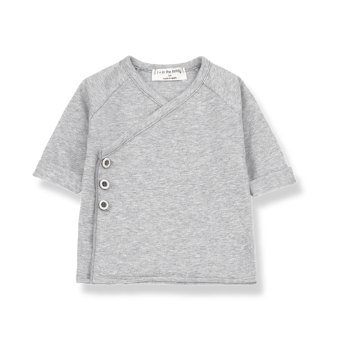 1+ in the Family - Newborn Shirt Gadea - grau melange