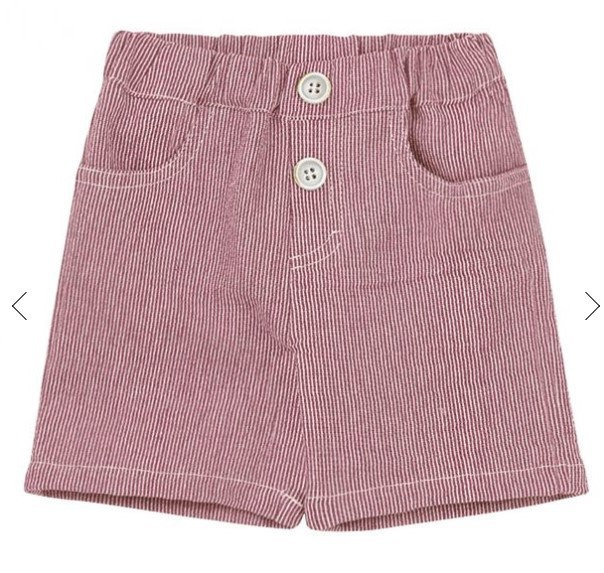 1+ in the Family - Bermuda Shorts Lazzaro - rot gestreift